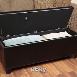 Gun Storage Concealment Bench Furniture Safe Ottoman Cabinet Chest Firearm Rifle