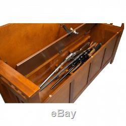 Gun Storage Concealment Bench Hope Chest Hidden Safe Firearm Cabinet Ottoman New