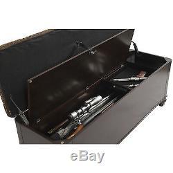 Gun Storage Concealment Bench Safe Nail Head Trim Firearm Rifle Furniture Locked