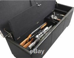 Gun Storage Concealment Safe Bench Firearm Handgun Rifle Brown Camo New