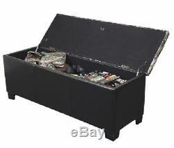 Gun Storage Concealment Safe Bench Firearm Handgun Rifle Brown Camo Safety