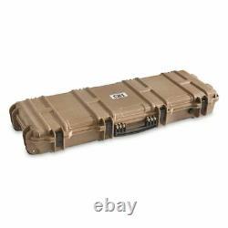 HEAVY DUTY Rifle Hard Tactical Case Padded Custom Lockable Carry Gun Storage NEW