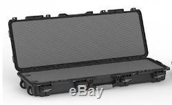 Hard Case Gun Padded Box Long Rifle Storage Tactical Double Field Locker Scoped