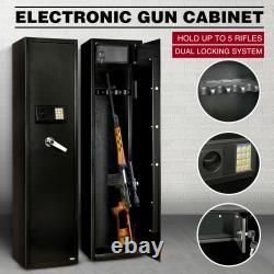 Heavy Duty Steel Rifle Gun Cabinet Safe Storage Firearm Electronic Digital Lock