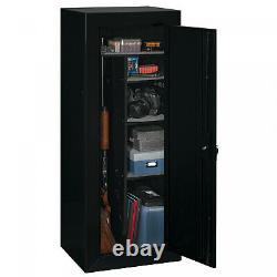 Heavy Duty Steel Rifle Gun Cabinet Safe Storage for Firearms Lock & Key