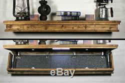 Hidden Compartment Tactical Gun Concealment Shelf 47 x 9.25 Hidden Gun Storage