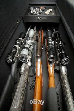 Hidden Gun Storage Ottoman Bench Rifle Shotgun Firearm Concealment Cabinet Rack