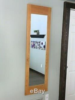 Hidden storage mirror, In-wall gun safe concealment cabinet CHERRY