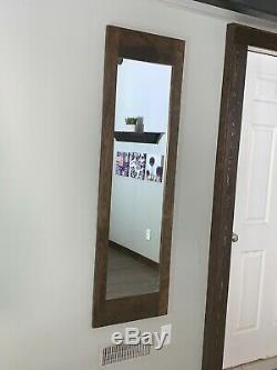 Hidden storage mirror, In-wall gun safe concealment cabinet Espresso