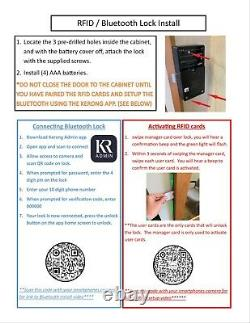 Hidden storage mirror In-wall gun safe concealment cabinet rifle pistol GRAY