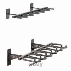 Hold Up Displays 6 Gun Rack and Rifle Storage- Heavy Duty Steel Made in USA