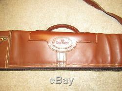 KING RANCH Brown All Leather Riffle Gun Carrying Storage travel Case