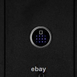 Large 5 Rifle Digital Gun Cash Safe Electronic Fingerprint Keyboard Storage