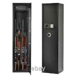 Large 5 Rifle Digital Gun Safe Electronic Lock Storage Steel Cabinet Security US