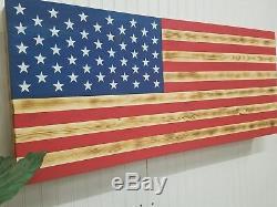 Large American Flag Concealment Furniture Compartment Cabinet Secret Gun Storage