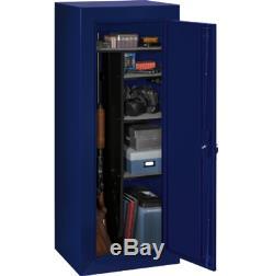 Large Gun Safe Cabinet 18 Rifles Storage Locker Ammo Shelf Rack Key Coded Lock
