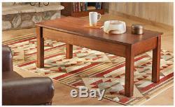 Locking Gun Concealment Coffee Table Safe Storage Hidden Weapon Hide Living Room