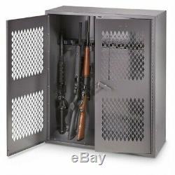 Metal Gun Locker Storage Home Security Cabinet Weapon Riffle Shotgun Firearms