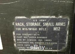 Military SMALL ARMS GUN RACK STORAGE Lockable Rifle Gun Army M12