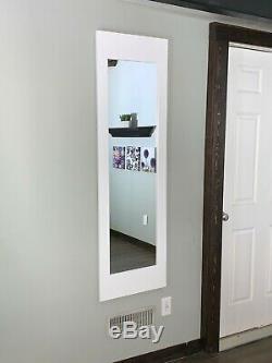 Mirror Safe, In-wall gun safe concealment cabinet rifle pistol storage White