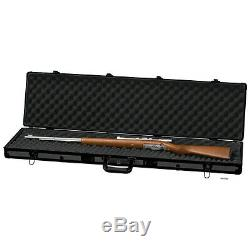 NEW Classic Long Rifle Case. Gun Storage Box. Aluminum. Hard Shell. Hunting Gear. Blk