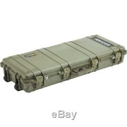 NEW Pelican 39 Rifle Gun Case Green Waterproof Dustproof Crushproof Wheels Foam
