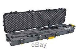 NEW Plano Double Scoped Pro Rifle Gun Hard Storage Case withWheels FREE SHIPPING