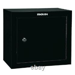 Pistol Ammo Security Cabinet Shelf Secure Steel Gun Storage Locker Safe Stack On