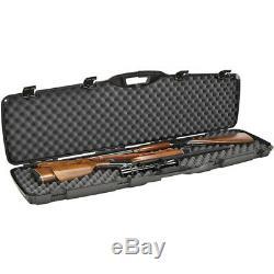 Plano Heavy Duty Hard Lockable Double Scoped 2 Rifles Gun Travel Case Storage