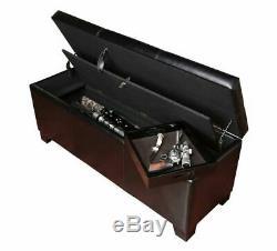 Rifle Safe Hidden Firearm Storage Cabinet Rack Bench Seat Ottoman Gun Box Lock
