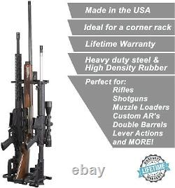 Rifle Shotgun Gun Holder Wall Mount Rack Storage Hanger Steel Metal Black 3-Slot