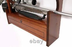 Rifle Wall Display Gun Rack Shotgun Storage Trophy Room Hunting Shooting Wood Rk