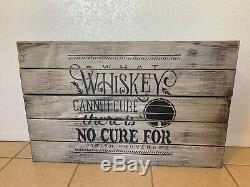 Rustic Whiskey Concealment Compartment Cabinet Hidden Gun Storage Case
