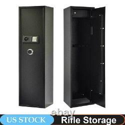 Security 5 Gun Rifle Storage Electronic Lock Shotgun Pistol Cabinet Safe Firearm