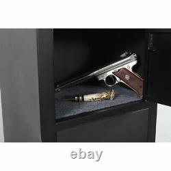 Security 6 Gun Rifle Storage American Lock Shotgun Pistol Cabinet Safe Firearms