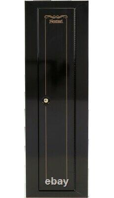 Security Cabinet Steel Top Shelf Key Coded Storage Rifles Shotguns Home 10 Gun