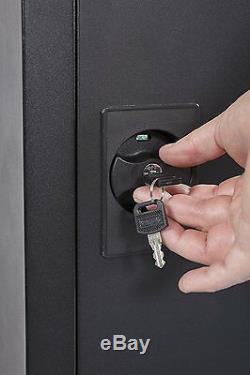 Security Gun Cabinet Safe 5 Gun Rifle Storage Locker Separate Pistol/Ammo Area