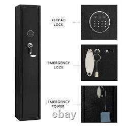 Security Gun Rifle Storage Wall Safe Box Electronic Lock Shotgun Steel Cabinet