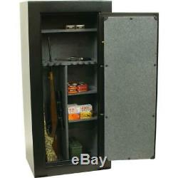 Sports Afield 30 Gun Safe Firearm Storage Fire Rated E-Lock Black Textured Steel