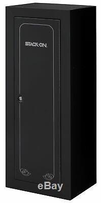 Stack-On 14 Gun Rifle Ammo Security Cabinet Storage Safe Black 21L x16W x 55H