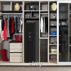 Steel 4 Rifle Gun Safe Electronic Storage Cabinet for Firearms, Valuable, Keys