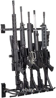 Steel Rifle Shotgun Rack Gun Storage Shelf 6 Guns Ruger Firearms Indoor Safe USA