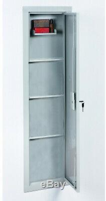 Storage Cabinet Full Length In Wall Security Gun Safe Removable Steel Shelves