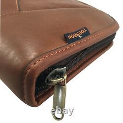 Tourbon Genuine Leather Rifle Soft Cases Gun Scoped Sling Bag Safe Carry Storage