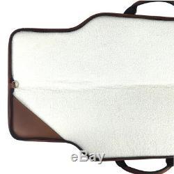 Tourbon Leather Rifle Case Gun Slip Bag Scoped Cover Padded Full Zipper Storage