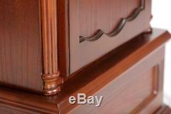 Traditional Wooden Shotgun Rifle Storage Cabinet Tall Gun Clock Safe Home Decor