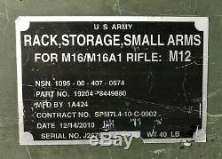 US Military SMALL ARMS GUN RACK STORAGE Lockable Rifle Gun Army M12 Aluminum AR