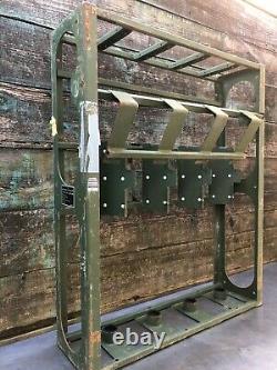 Used Us Military Small Arms Gun Rack Rifle Storage 240 Steel Lockable Gunshow