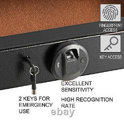 VEVOR Under Bed Gun Safe Under Bed Safe Fingerprint Under Bed Gun Storage Drawer