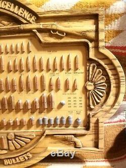 Vintage Hornady Bullet Board Cartridge Store Display Pristine Rifle Pistol Gun